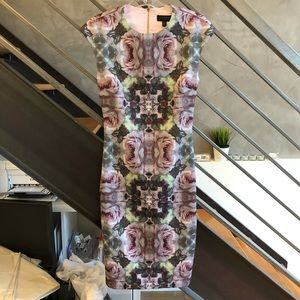 Ted Baker green and pink kaleidoscope dress size 1